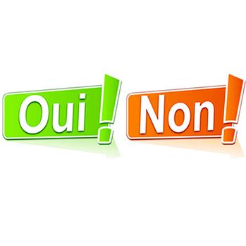 2 lames Oui - Non - Pour prendre la bonne décision 6ec351850d5f